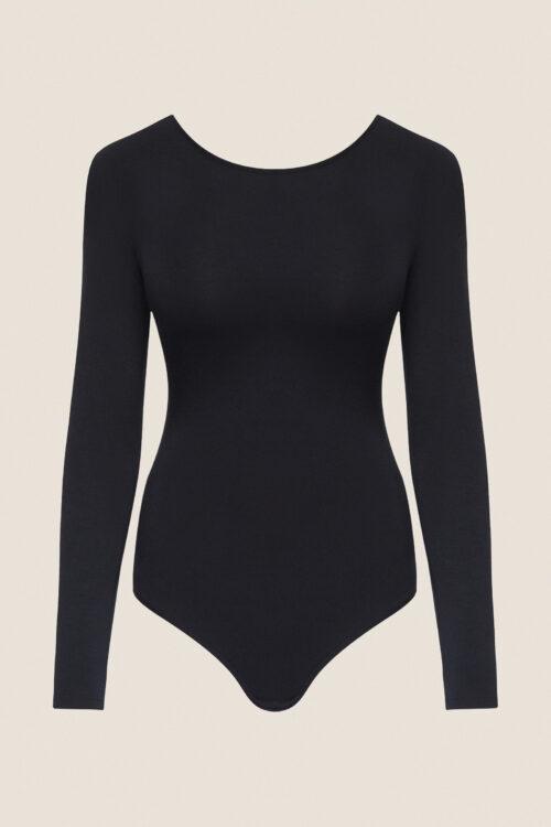 body, bodysuit, schwarz, nachhaltig